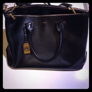 Newbury Large Black Leather Satchel